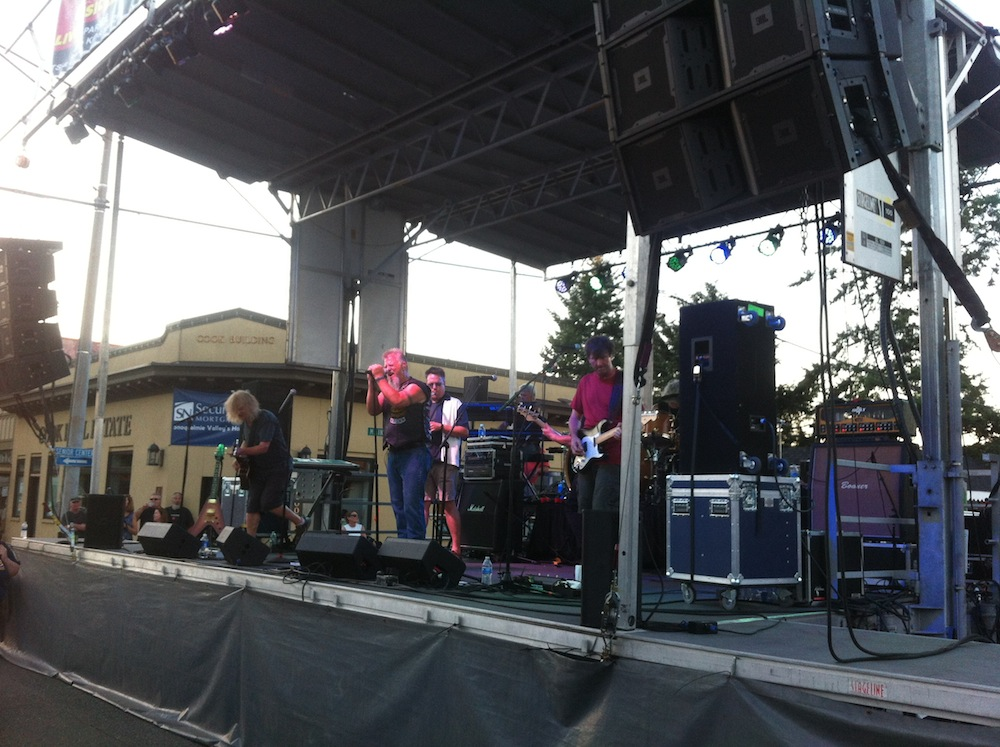 JBL VerTec sound system at North Bend Block Party