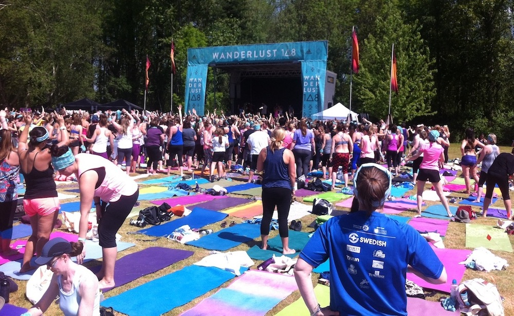 Wanderlust 108 Yoga event at Lake Sammamish State Park, 2017