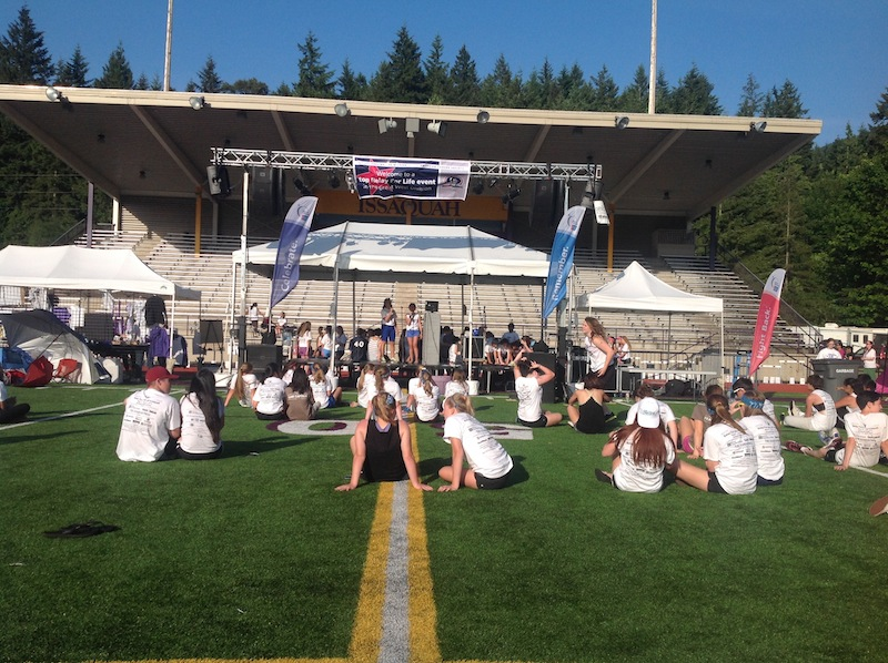Issaquah Relay for Life 2014, JBL VRX Sound System