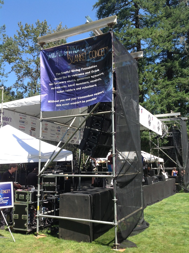 Soulful Giving 2016 Stage Right VerTec VT4888 Speakers, August 6th, 2016