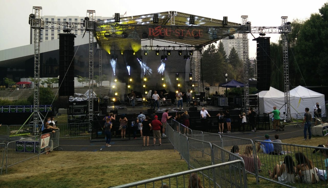 Main Stage at Tinnabulation Music Festival, Spokane, WA, September 2017.