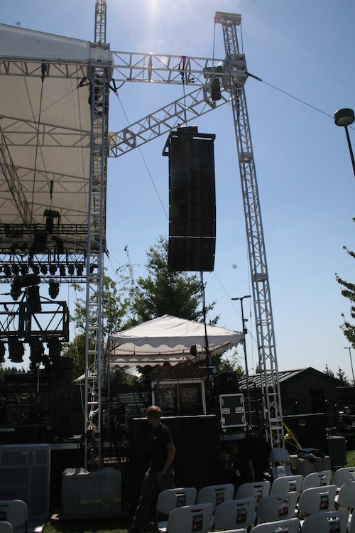JBL VerTec 4888 sound system, Tulalip Amphitheater in Marysville, WA, Stage Left Hang