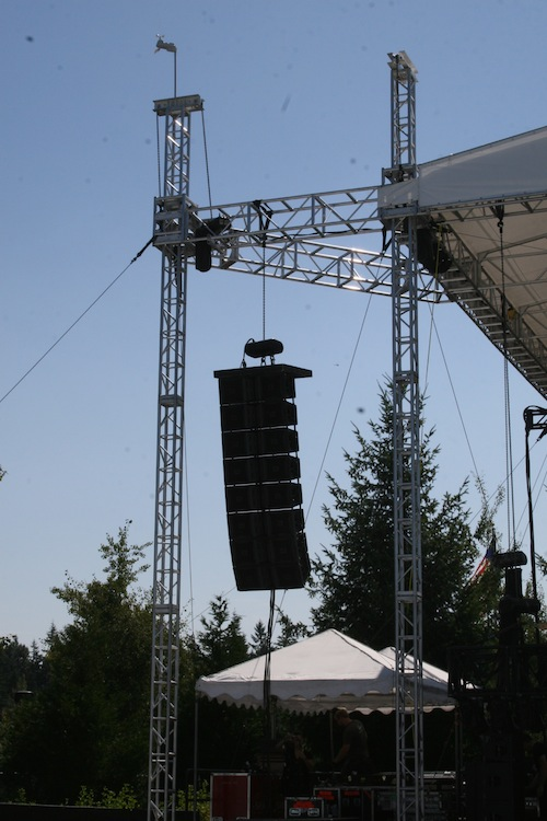 JBL VerTec 4888 sound system, Tulalip Amphitheater in Marysville, WA, Stage Right Hang